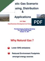 Domestic Gas Scenario Processing, Distribution & Applications