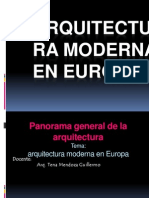 Arquitectura Moderna en Europa