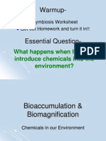 Bioaccumulation  Biomagnification