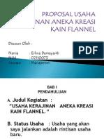 Presentasi Proposal Flanel