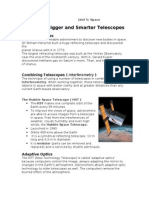 topic 4 - bigger and smarter telescopes