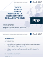 PREVENTION - INTERVENTION D'ENTREPRISES ETRANGERES ET RESPECT DE LA REGLEMENTATION SOCIALE EN VIGUEUR (Personnet attaché ou rattaché)