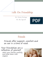 Talk on Friendship powerpoint