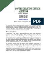 Church History Seminar What is a Church History Seminar