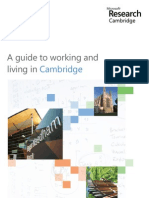 A Guide to Working and living in Cambridge Microsoft Research