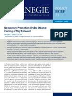Democracy Promotion Under Obama