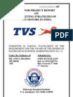 117477872 Minor Project Report on Tvs Motors India