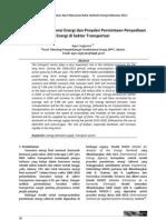 Proyeksi Permintaan-Penyediaan Energi di Sektor Transportasi