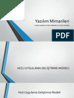 Yazılım Mimarileri - Yazılım Geliştirme Modelleri