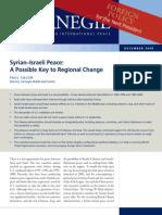 Syrian Israeli Peace