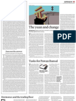 Yuan and Change Business Standard 31 October, 2012