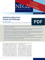 Stabilizing Afghanistan