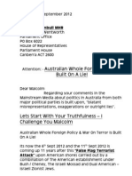 Letter to Malcolm Turnbull MHR - 2