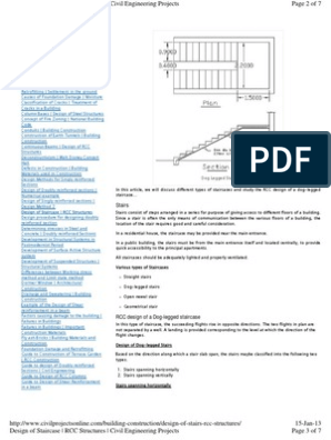 design of staircase pdf   Stairs   Beam (Structure)
