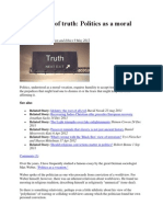 For the Love of Truth - Politics as a Moral Vocation