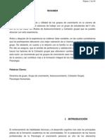 Monografía Eficacia y Utilidad de Los Grupos de Crecimientos Para Estudiantes de Psicologìa II año UCA