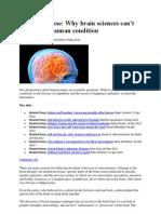 Neurononsense -Brain Science Cannot Explain Human Condition