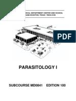 army medical parasitology i
