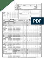 Rolemaster Sheet