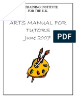 Arts Manual for Tutors