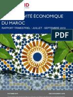 Rapport Trimestriel Juillet-Septembre 2010