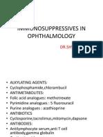 Immunosuppressives in Ophthalmology