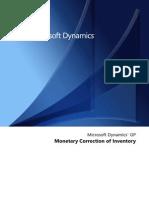 Monetary Correction IV