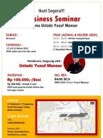 Bussiness Seminar Bersama Ustadz Yusuf Mansur