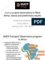 Pilot transport observatory in West Africa