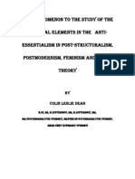 A Prolegomenon To The Study Of The Mystical Elements In The   Anti-Essentialism In Post-Structuralism, Postmodernism, Feminism And Queer Theory