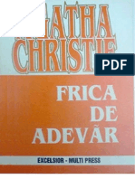 Christie Agatha - Frica de Adevar
