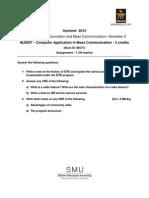 MJ0006 Summer Drive Assignment 2012