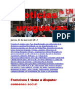 Noticias Uruguayas Jueves 14 de Marzo Del 2013