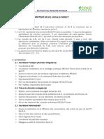 Statuts Du Groupe Moteur [2009]