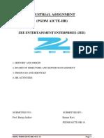 Industrial Assignment Upload of ZEE