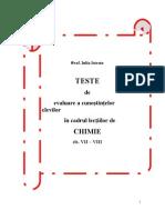 Teste Evaluare Clasele VII-VIII