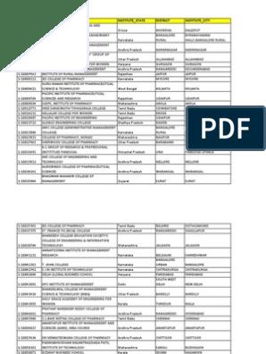 Institute List