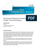 The Concept of Deterrence in Arab and MuslimThought - The Arab Gulf States