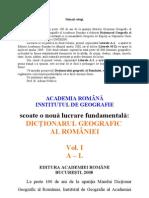Dictionarul Geografic Al Romaniei