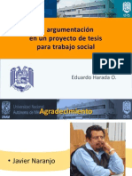 La argumentación en un proyecto de tesis para Trabajo Social