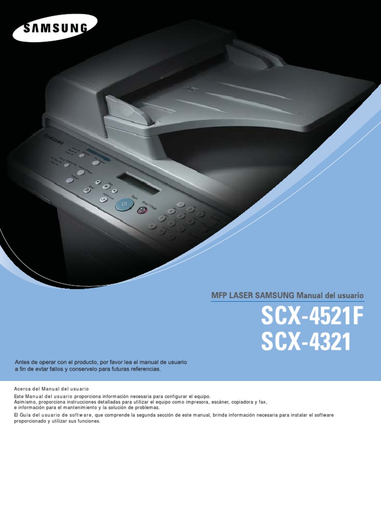 manual impresora samsung scx 4521f rh es scribd com