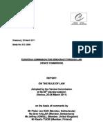 Comissão de Veneza (2011) Report on the Rule of Law (relatório sobre o Estado de Direito)