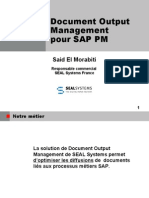 SAP PM Génération,impression, distribution,publication des dossiers de Maintenance