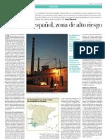 El Suroeste español, zona de alto riesgo