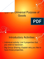 Cathwor Lesson 10 CST on Universal Purpose of Goods