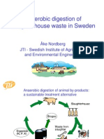 Anaerobic Digestion of Slaughterhouse Waste in Sweden