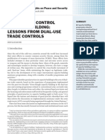 Arms trade control capacity building