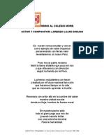 """Himno al Colegio Mariscal Oscar R. Benavides  """"MORB"""""""