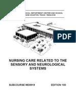 us army nursing sensory & neurological system related