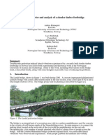 Dynamic behavior and analysis of a slender timber footbridge